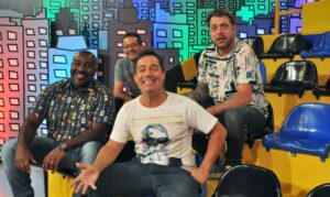 Tatola Godas, Dennys Motta, Ângelo Campos e Ricardo Mendonça vão deixar o Encrenca e a RedeTV! (foto: Divulgação/RedeTV!)