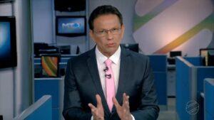 Elias Neto no MT2 de 11 de setembro: aceitou plano de demissão da afiliada da Globo (foto: Reprodução/TV Centro América)