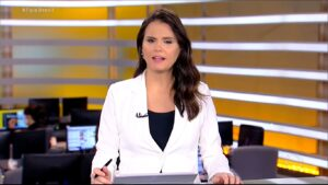Roberta Piza em sua última aparição no Fala Brasil, em 19 de setembro de 2020 (foto: Reprodução/Record)