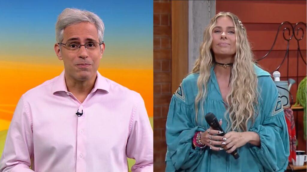 O matinal Globo Rural teve mais ibope do que A Fazenda 13 no horário nobre (foto: Reprodução/TV Globo e Record)