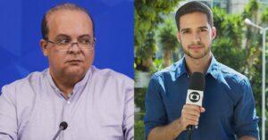 Montagem entre Ibaneis Rocha, Governador do Distrito Federal, e o jornalista Gabriel Luiz, da Globo Brasília