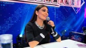 Juliana Paes como jurada do Show dos Famosos, quadro do Domingão