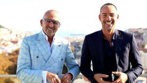 Manuel Luís Goucha e Cláudio Ramos são os apresentadores do Big Brother Portugal (foto: Divulgação/TVI)