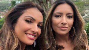 Patrícia Poeta posa ao lado da irmã caçula, Paloma, que trabalha na Record (foto: Reprodução)