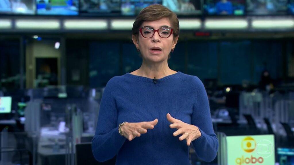 Renata Lo Prete no Jornal da Globo: nova derrota para A Fazenda (foto: Reprodução/Record)
