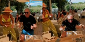 Roberto Justus rebolou ao som de música da cantora Anitta (foto: Reprodução)