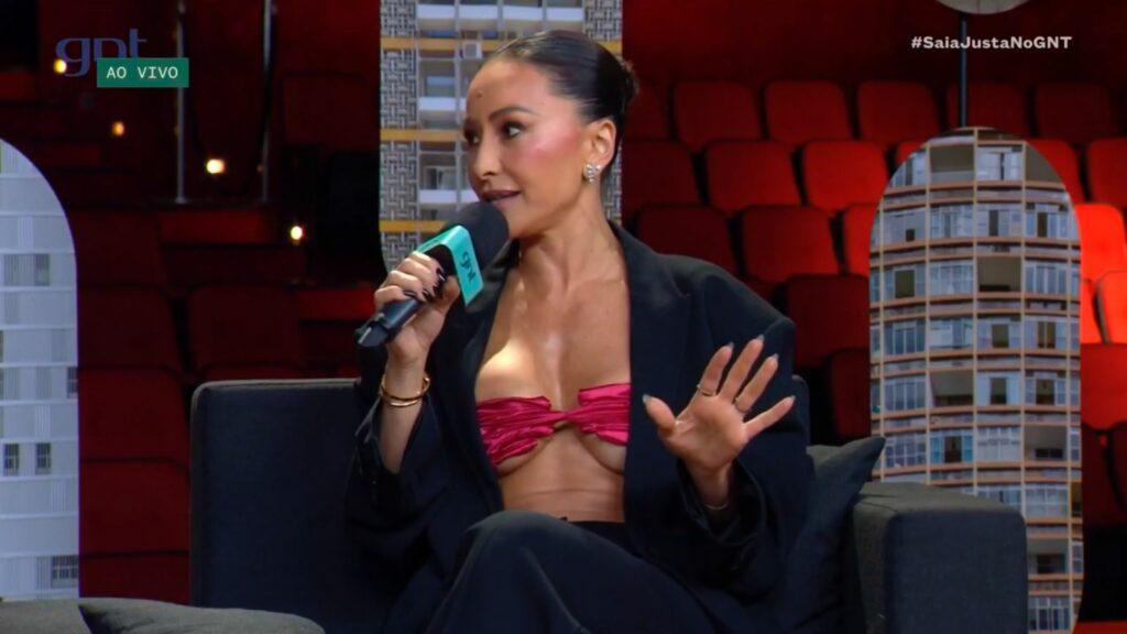 A apresentadora Sabrina Sato em entrevista ao programa Saia Justa, do GNT
