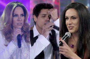 Wanessa Camargo, Thiago Arancam e Vitor Kley estrearam no Show dos Famosos do Domingão com Huck (foto: Globo/Reprodução)