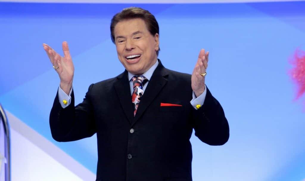 O apresentador Silvio Santos em uma das gravações de seu programa no SBT