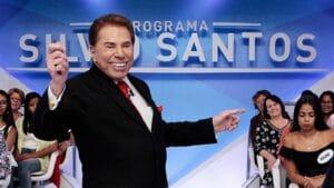 Silvio Santos na gravação de seu tradicional programa: Record, SBT e RedeTV! vão continuar na Claro (foto: Divulgação/SBT)