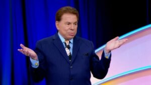 Silvio Santos em episódio do programa Roda a Roda, do SBT
