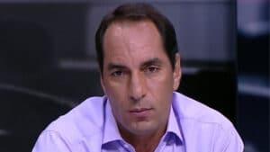 Imagem do ex-jogador Edmundo em um dos programas do Fox Sports