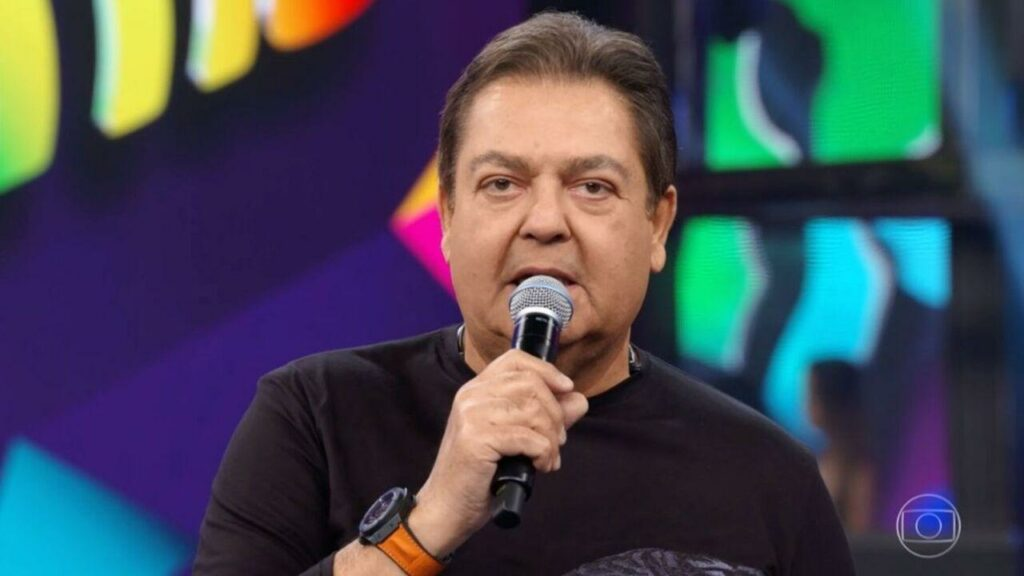 Imagem do apresentador Faustão no Domingão da Globo