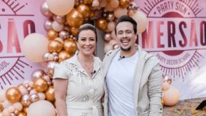 Imagem dos apresentadores Silvia Saia e Felipe Manzatto