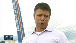 César Menezes em reportagem para o SP1