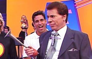 Silvio Santos no estúdio do programa Qual é a Música?
