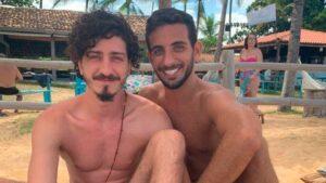 O ator Jhonny Massaro e o advogado João Pedro Accioly