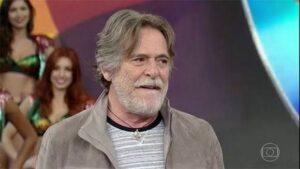 O ator José de Abreu em participação no Domingão do Faustão