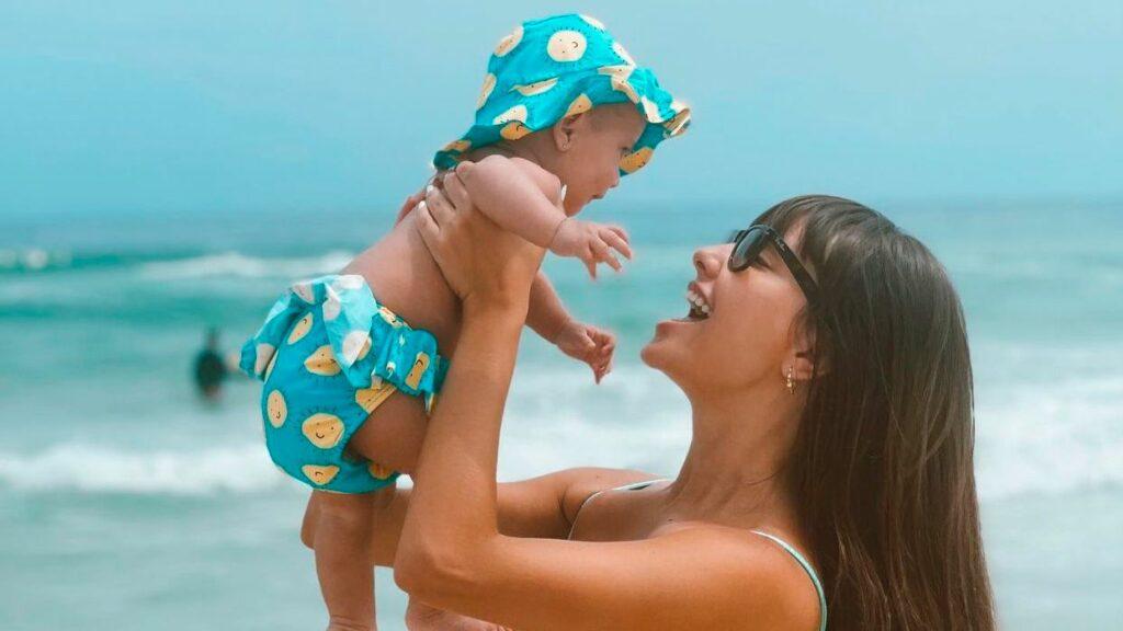 Thaís Braz e a sobrinha Eva