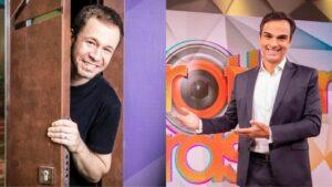 Os apresentadores Tiago Leifert e Tadeu Schmidt